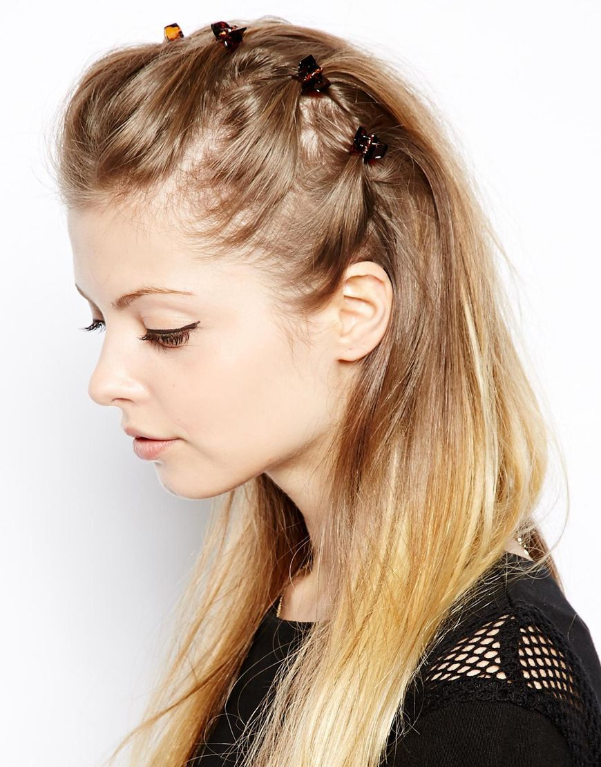 Image 1 Of Asos Pack Of 6 Mini Hair Claws Clip Hairstyles Hair