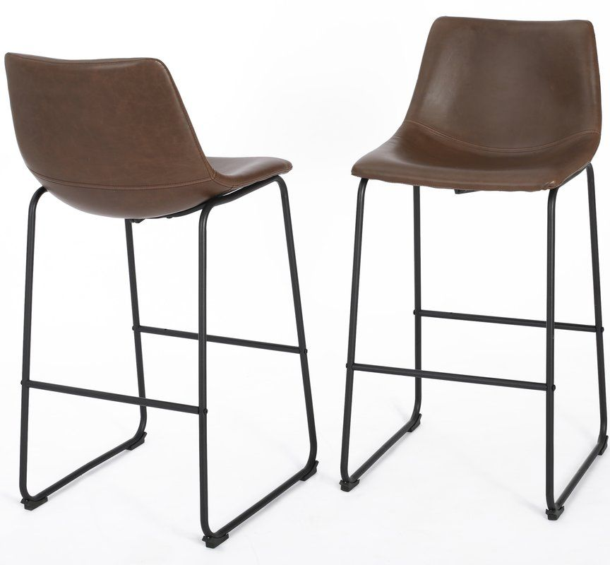 Liara Bar Amp Counter Stool Leather Bar Stools Bar Stools