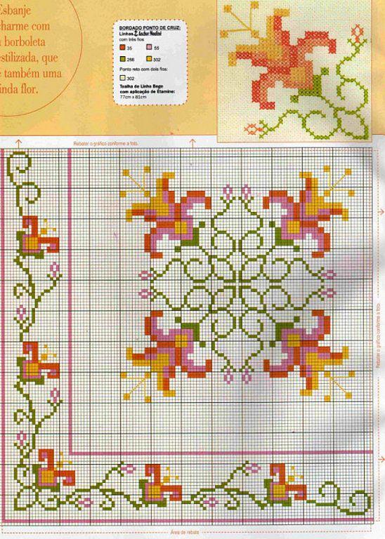 Dibujos punto de cruz para manteles imagui punto de for Cocinas punto com