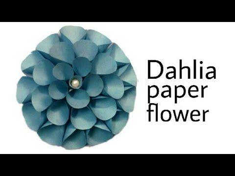 Marvelous Dahlia Paper Flower  Method 2|Decoration Flower|Best Decoration Flower|Big