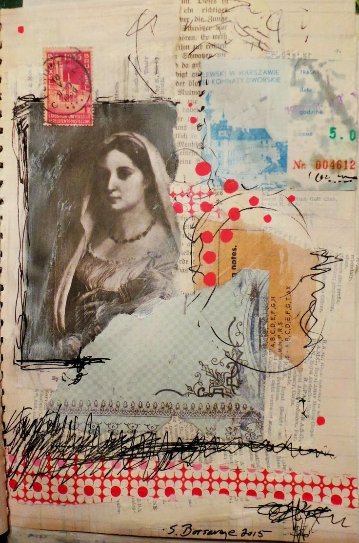 Art journal inspiration. Techniques and ideas for keeping a scrapbook or a travel journal #artjournalmixedmediainspiration
