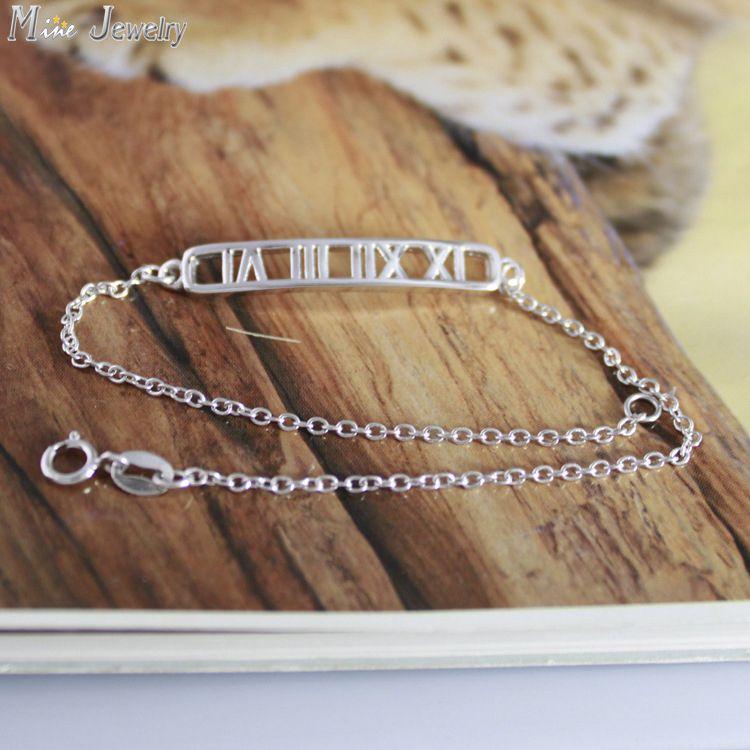 925 Sterling Silver Bracelets Pure Sterling Silver 925 Bracelets Jewelry Pulseras Pulseira