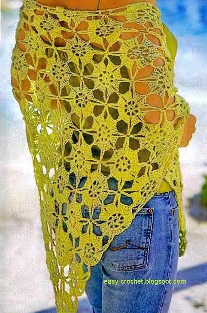 Stylish Easy Crochet Crochet Shawl Pattern Free Stylish Easy