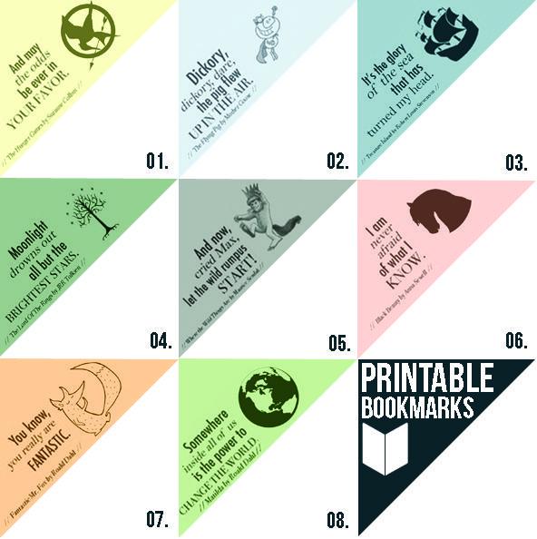 Free Printable Bookmarks | Somewhat Simple