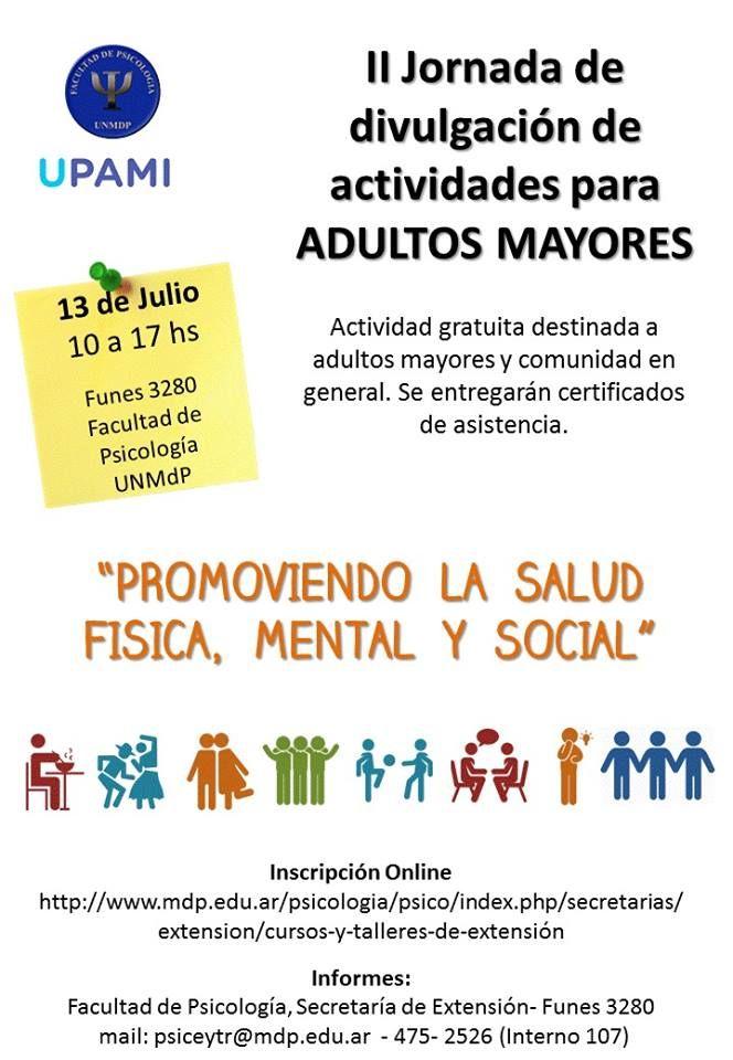 Upami Ii Jornada De Divulgación De Actividades Para Adultos Mayores Central Informativa Del Adulto Mayor Actividades Para Adultos Adulto Mayor Actividades