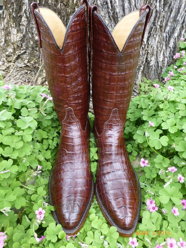 New Lucchese Classics 100 Full Alligator Crocodile Exotic Western