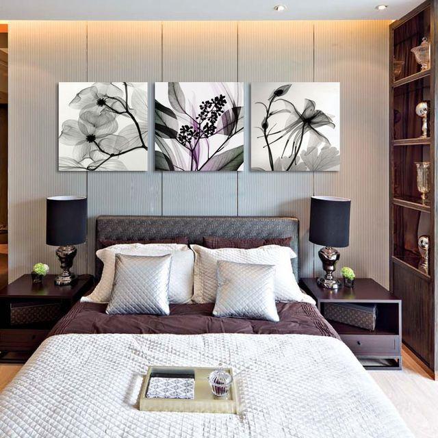 Comedor dormitorio decorado de la orquídea lienzo prints 3 ...