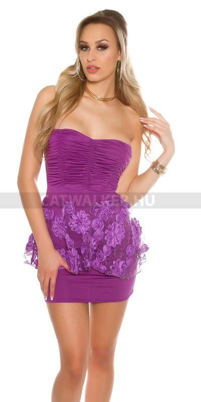 6d98147f91 Alkalmi ruha csipkés, felső részén ráncolt - lila | esküvő | ALKALMI ...