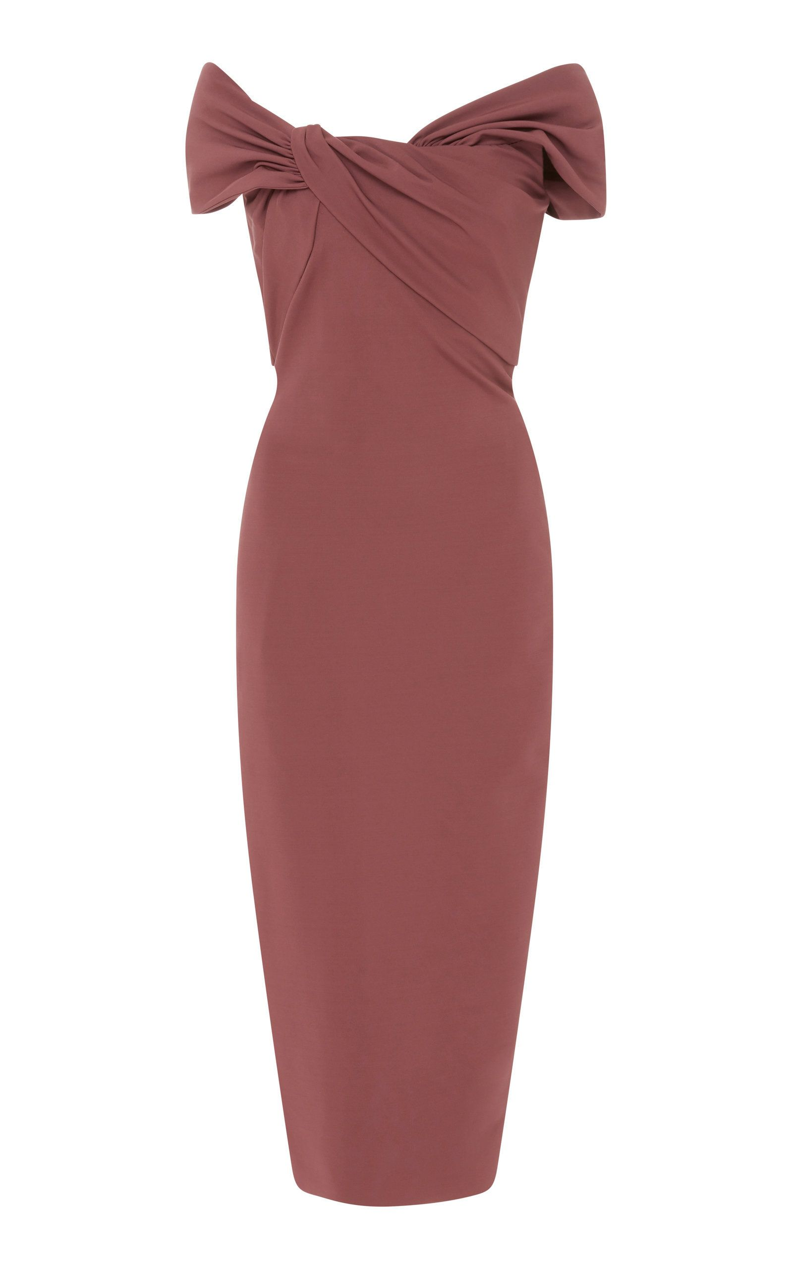07dbbe552ee Off-The-Shoulder Stretch-Crepe Midi Dress by CUSHNIE Now Available on Moda  Operandi