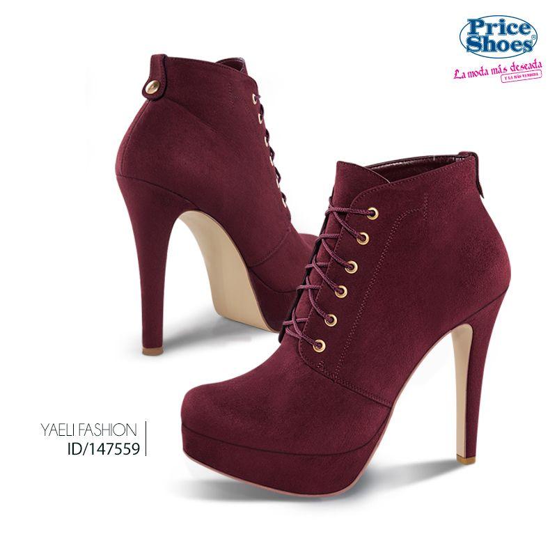 Unos botines en rojo destacarán tu look. #moda #estilo #priceshoes #iLovePS