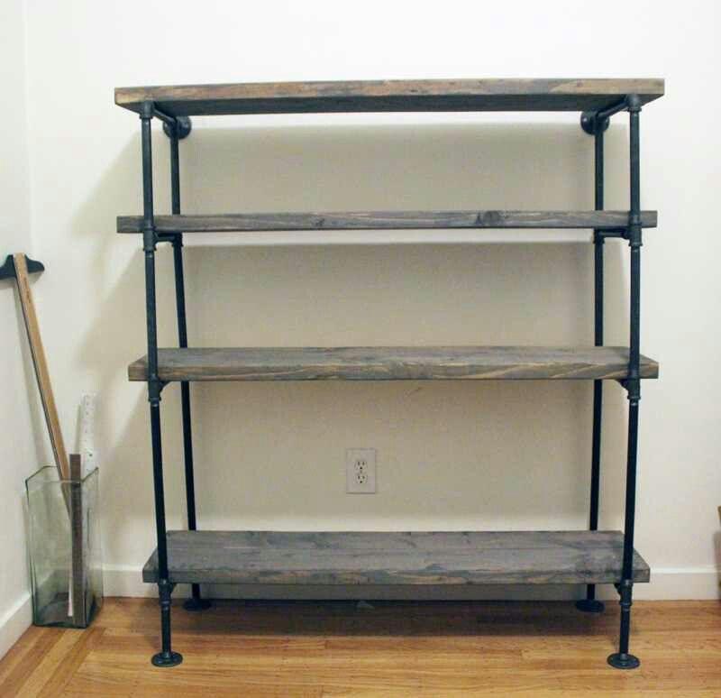 Industrial Look 4 Tier Shelf Bookshelves Diy Industrial Shelf