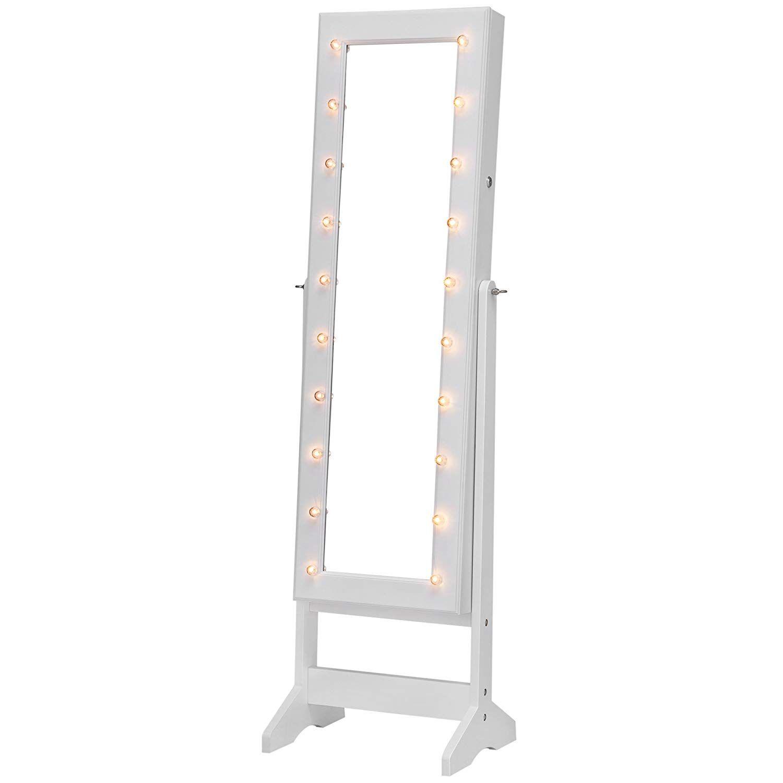 ❤ Espejo Joyero ❤ SONGMICS con Luces LED con Cerradura Armario de ...