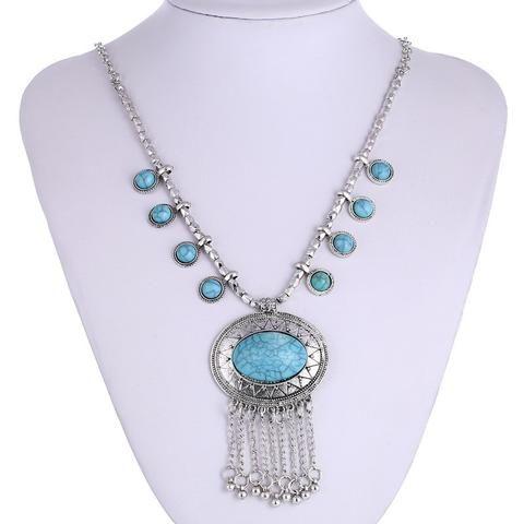 Y2 Gem Tassel Necklaces Pendant