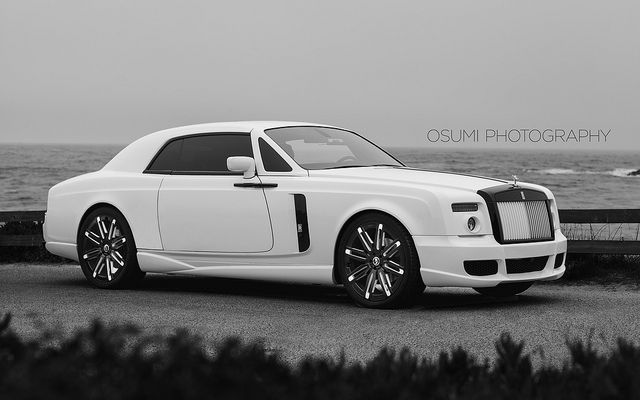 Rolls Royce Phantom Coupe; Just cooling by the beach.