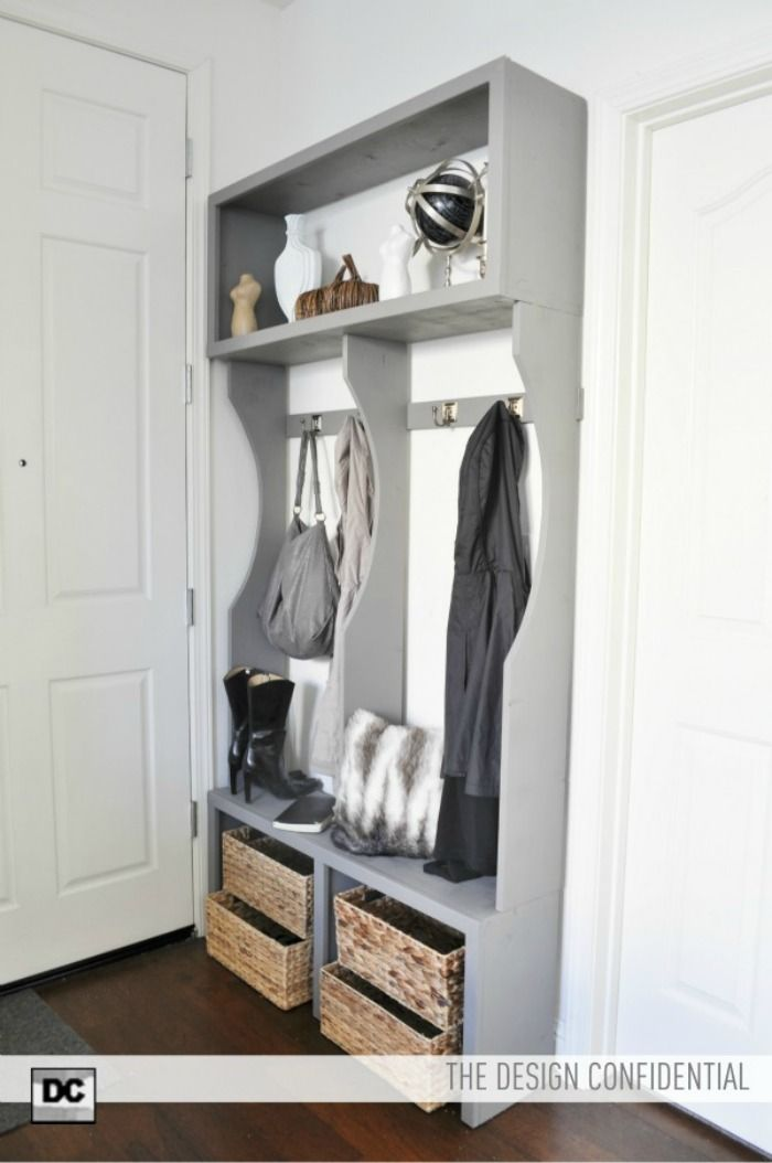 Mudroom Storage Do It Yourself : Entryway locker system do it yourself home projects from