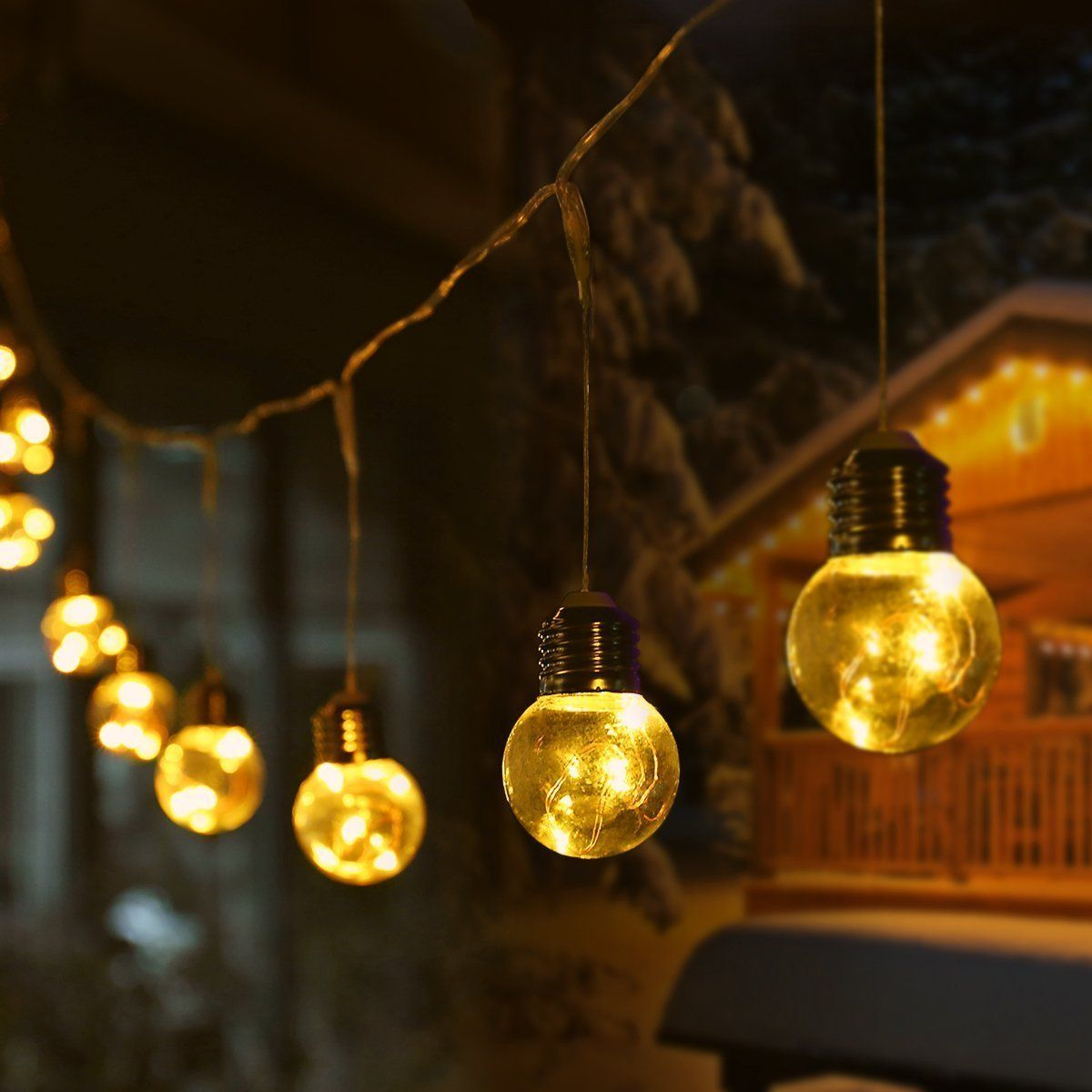 Le Lampadine A Led.Le Luci Stringa Luminosa Attacco Spina 25 Lampadine Led G45