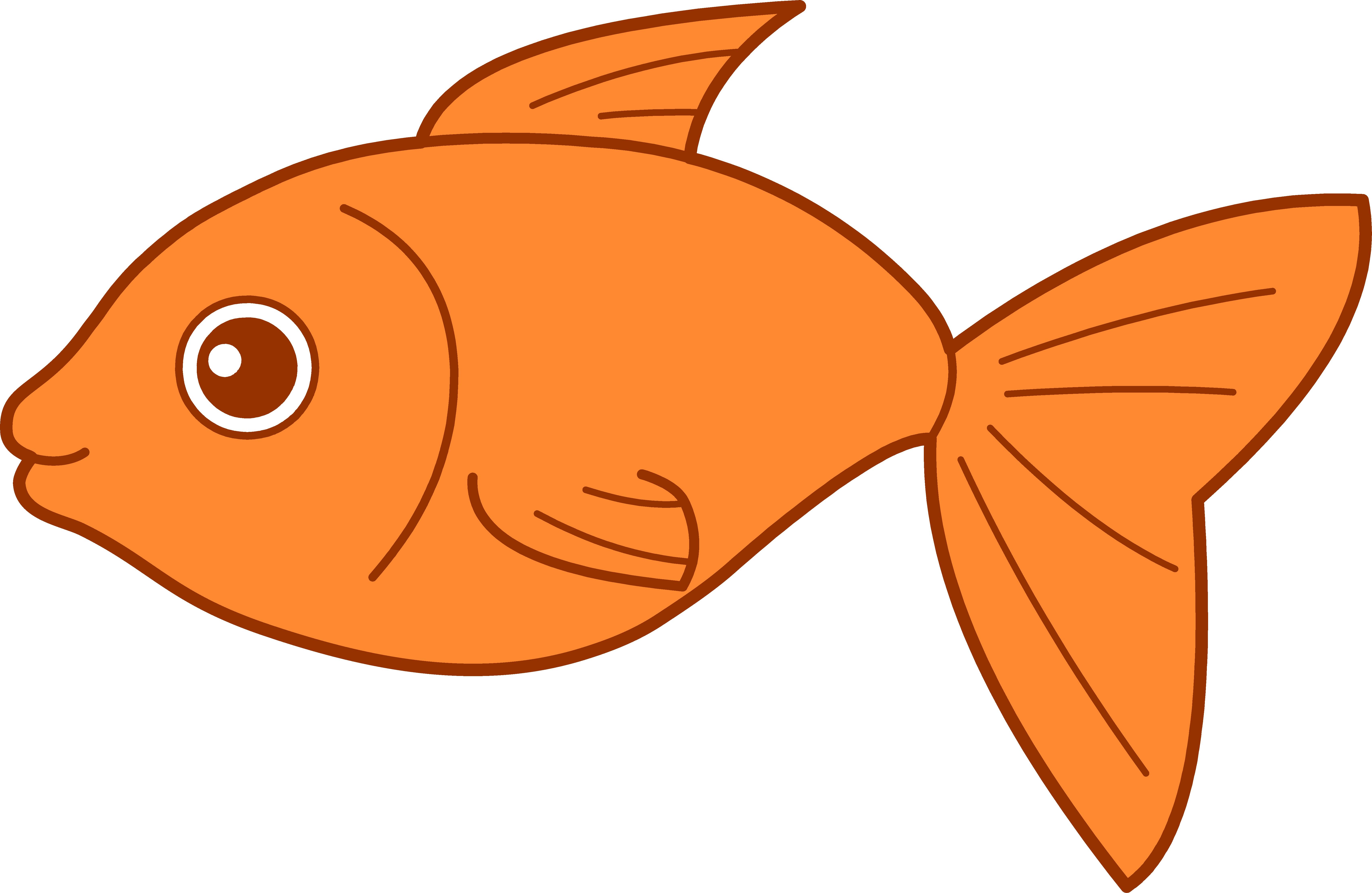 Happy Goldfish Design Free Clip Art Fish Clipart Fish Tank Drawing Cartoon Fish