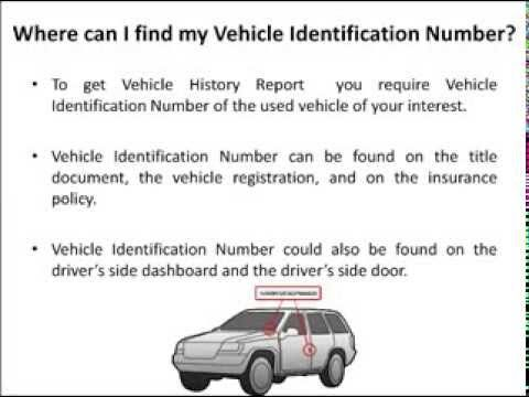 Vehicle history report video will provide information on vehicle