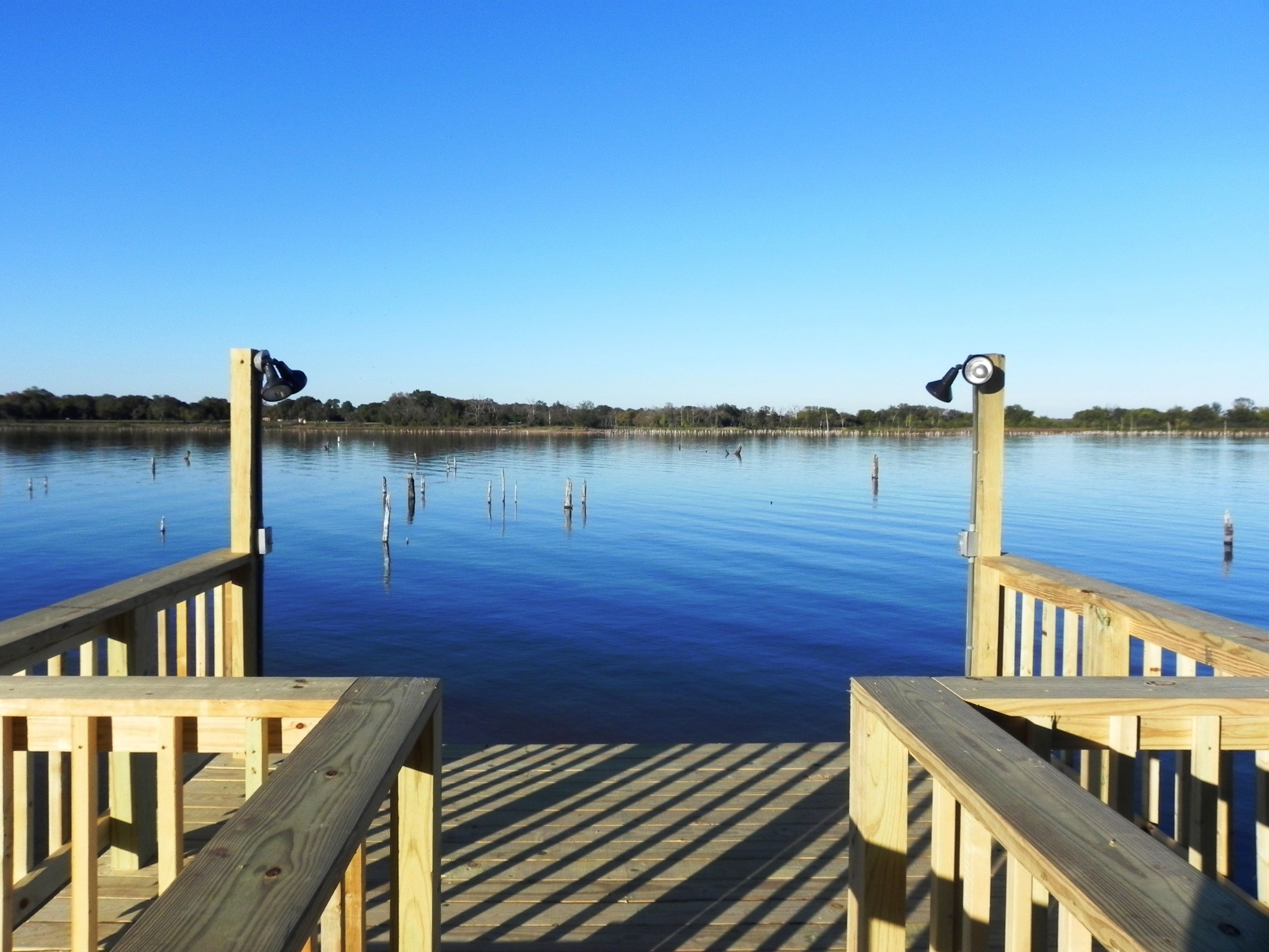Build a pier on your lake fork waterfront lot www for Fishing lake fork