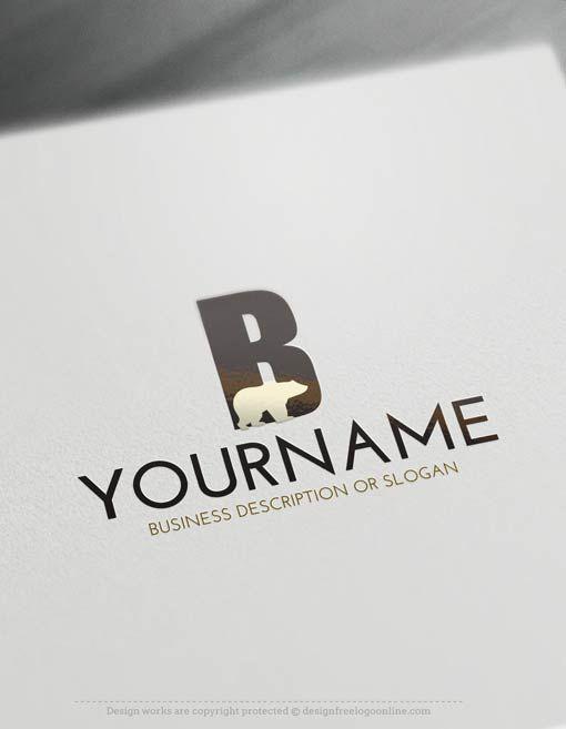 Free Logo Maker Create Your Own Bear Logo Template Initials Logo