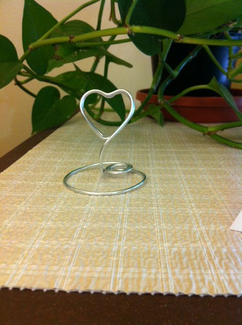 Place Card Holder Lovely Silver Weddings by MyrtlesBoutique, $18.75