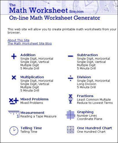 Online Puzzle Generators-all strands   Maths Resources ...