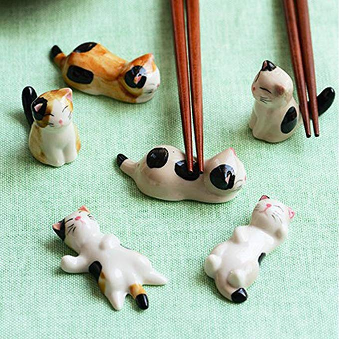 Ceramic Ware Cute Cat Chopsticks Stand Chopstick holder