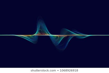 Abstract Digital Colourful Equalizer Sound Wave Stock Vector (Royalty Free) 1068926918