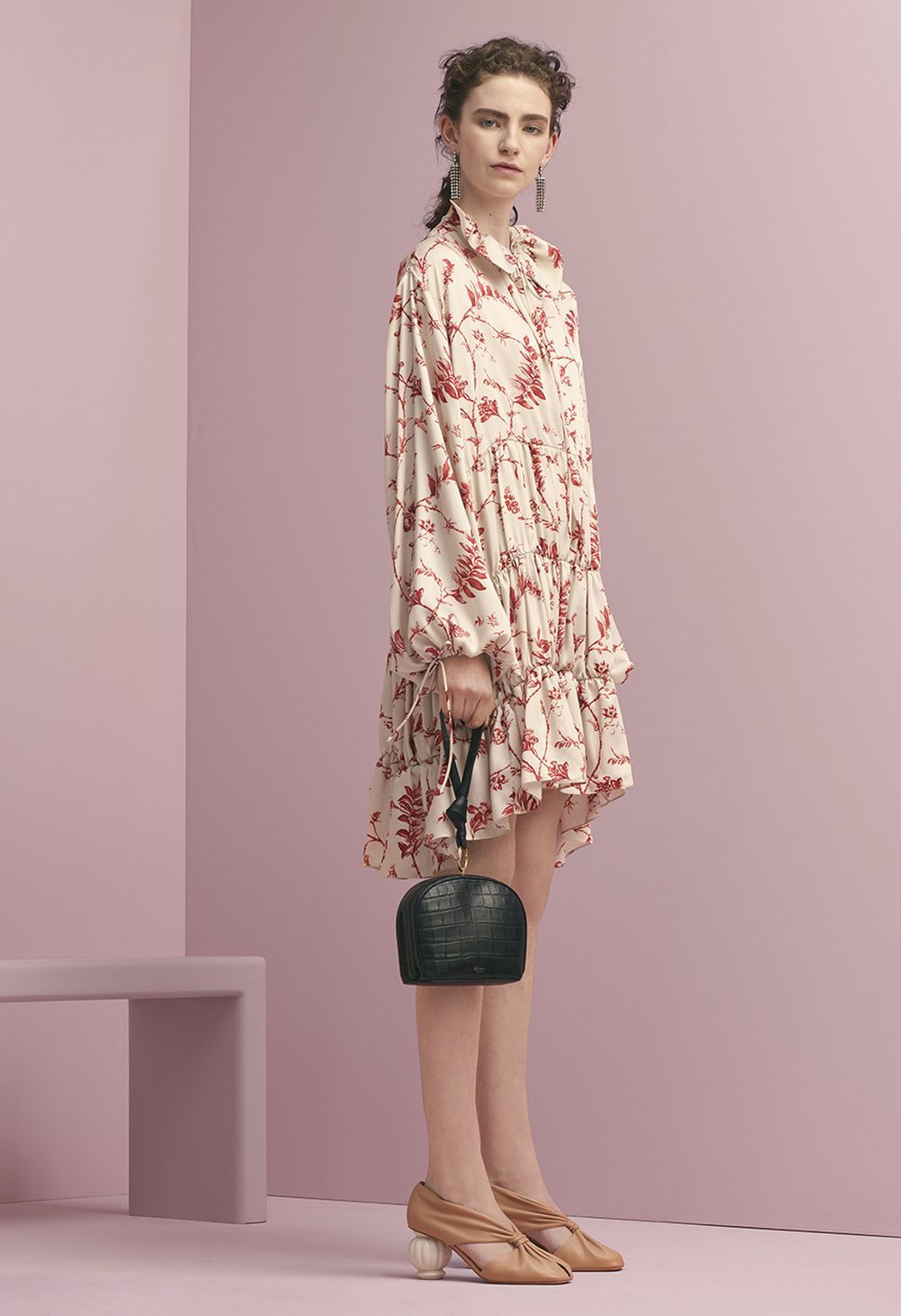 e85f523796 Mulberry Summer  18 LFW show. The Vera Dress in Antique Ruby Soloman Seal  Twill