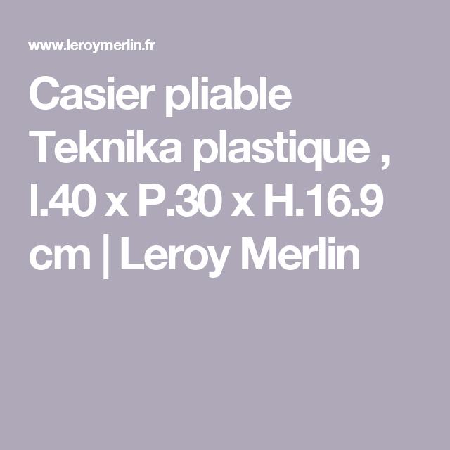 Casier Pliable Teknika Plastique L40 X P30 X H169 Cm