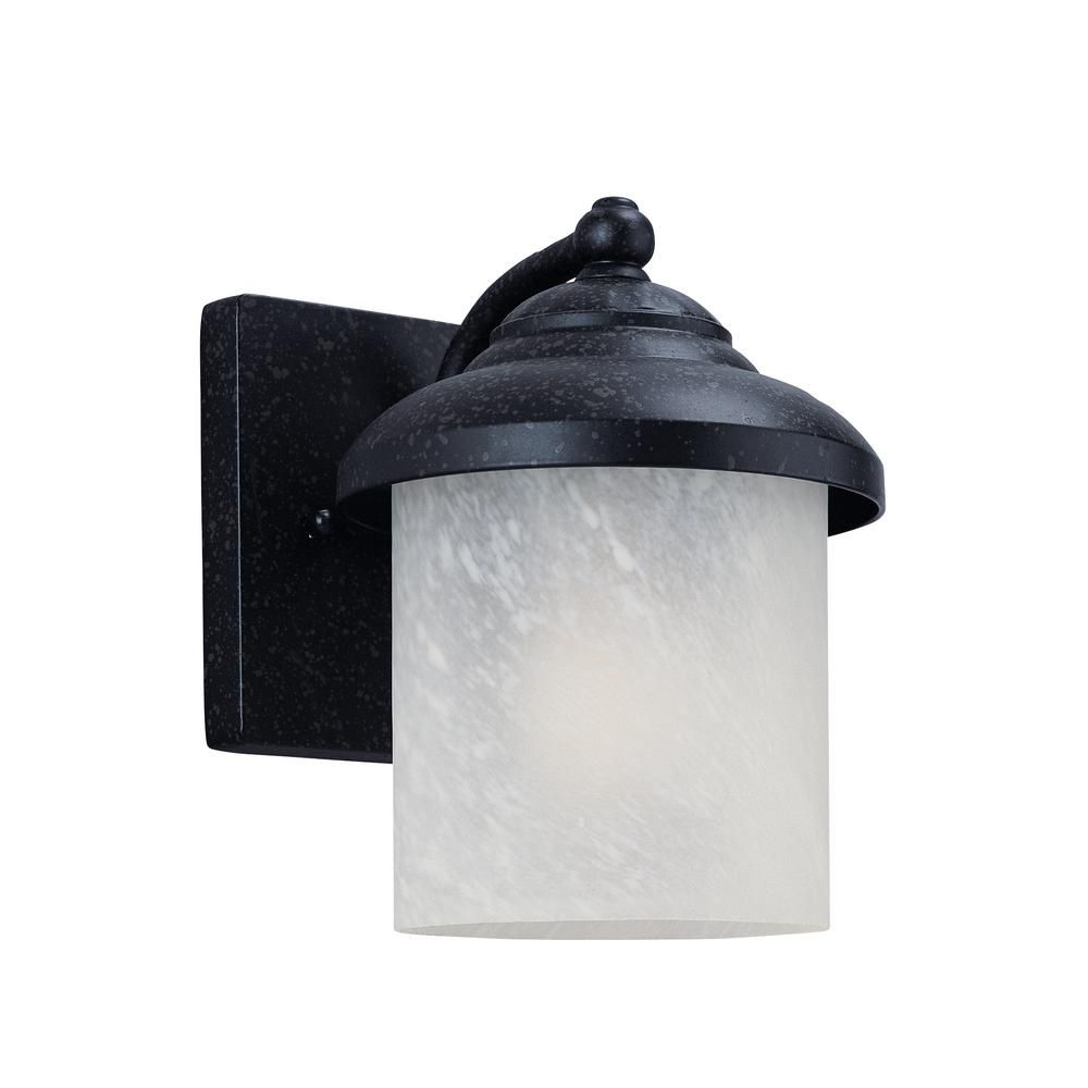 Yorktown light forged iron outdoor wall mount lantern with led
