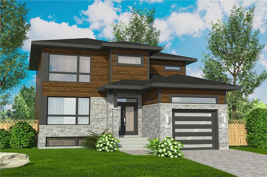 3 Bedroom Contemporary Cottage House Plan 1580 Sq Ft Cottage House Plans Contemporary House Plans Shed Roof Design