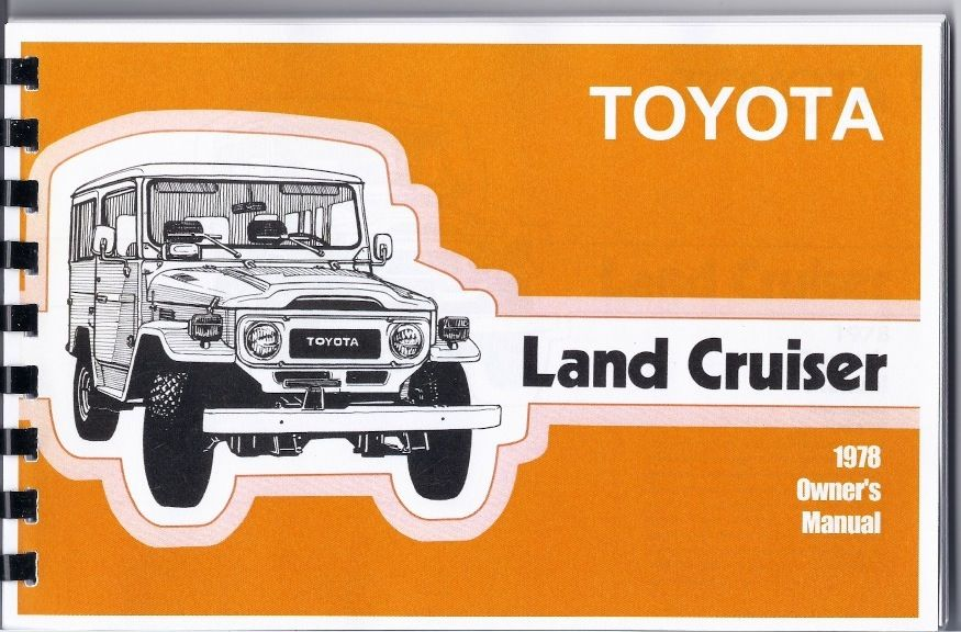 The Owners Manual Owners Manuals Toyota Land Cruiser Land Cruiser
