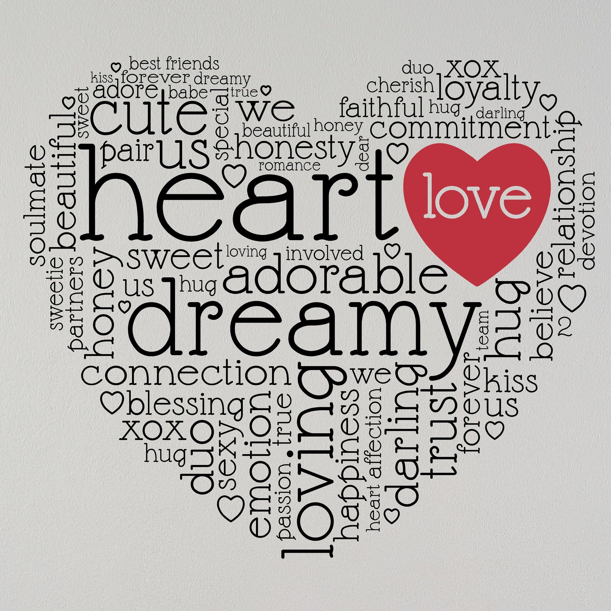 Love words heart valentineus vinyl wall decal products pinterest