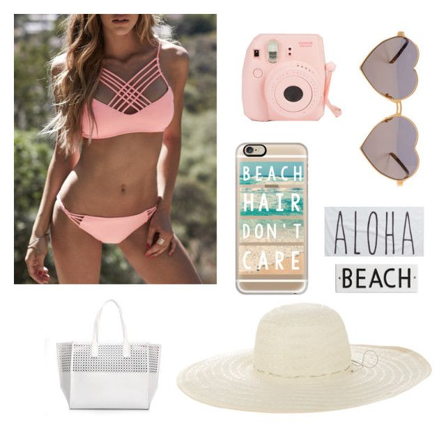 """Beach cute"" by luyanne-kessya on Polyvore featuring moda, WithChic, Wildfox, Casetify, Jennifer Ouellette, Rip Curl e Rosanna"