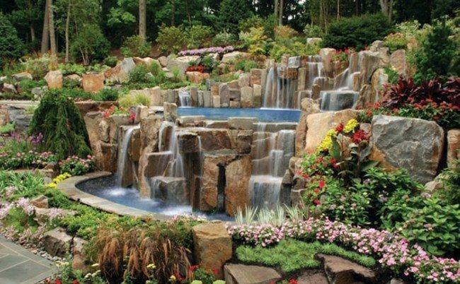 pool wasserspiel steine garten gestaltung | dare to dream, Haus und garten
