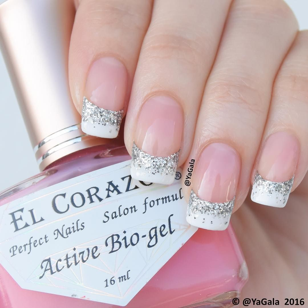 French manicure El Corazon No.423 perfect as a base coat for french ...
