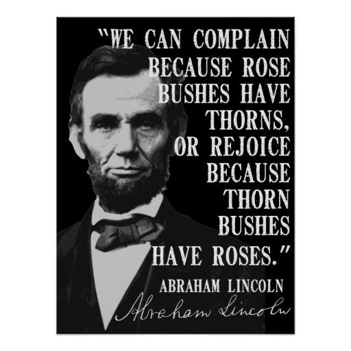 Quotes From The Movie Lincoln: We Can Complain Because... Poster
