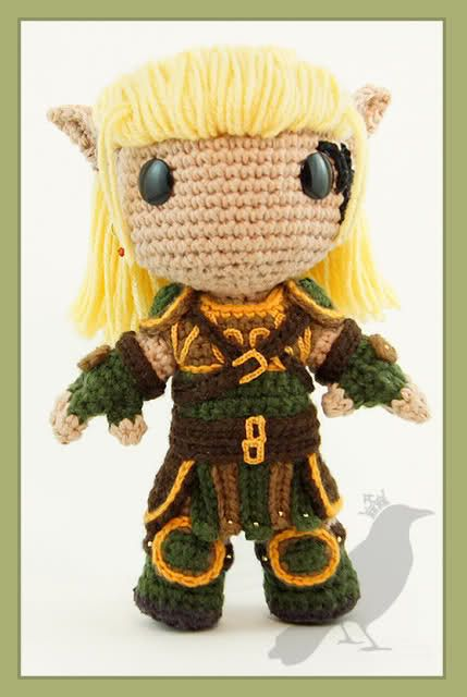 I wish I knew how to crochet. I love this. Zevran from Dragon Age ...