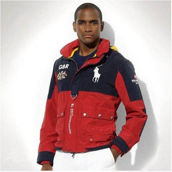 Ralph Lauren GBR Men's Ocean Challenge Jacket Darkblue Red http://www.ralph