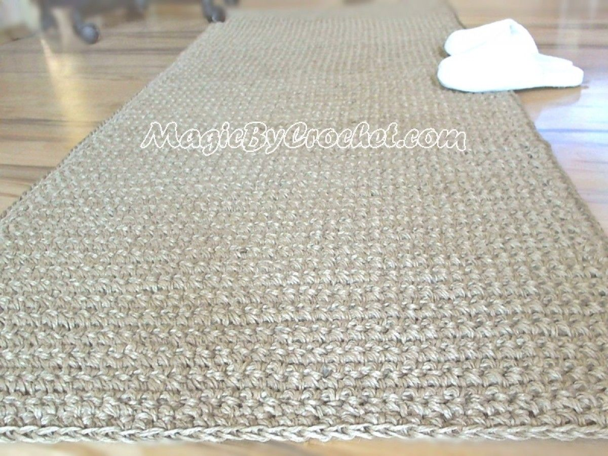 Hallway carpet runners sold by the foot  Natural Hallway RunnerRug Rug x foot Handmade Natural Jute