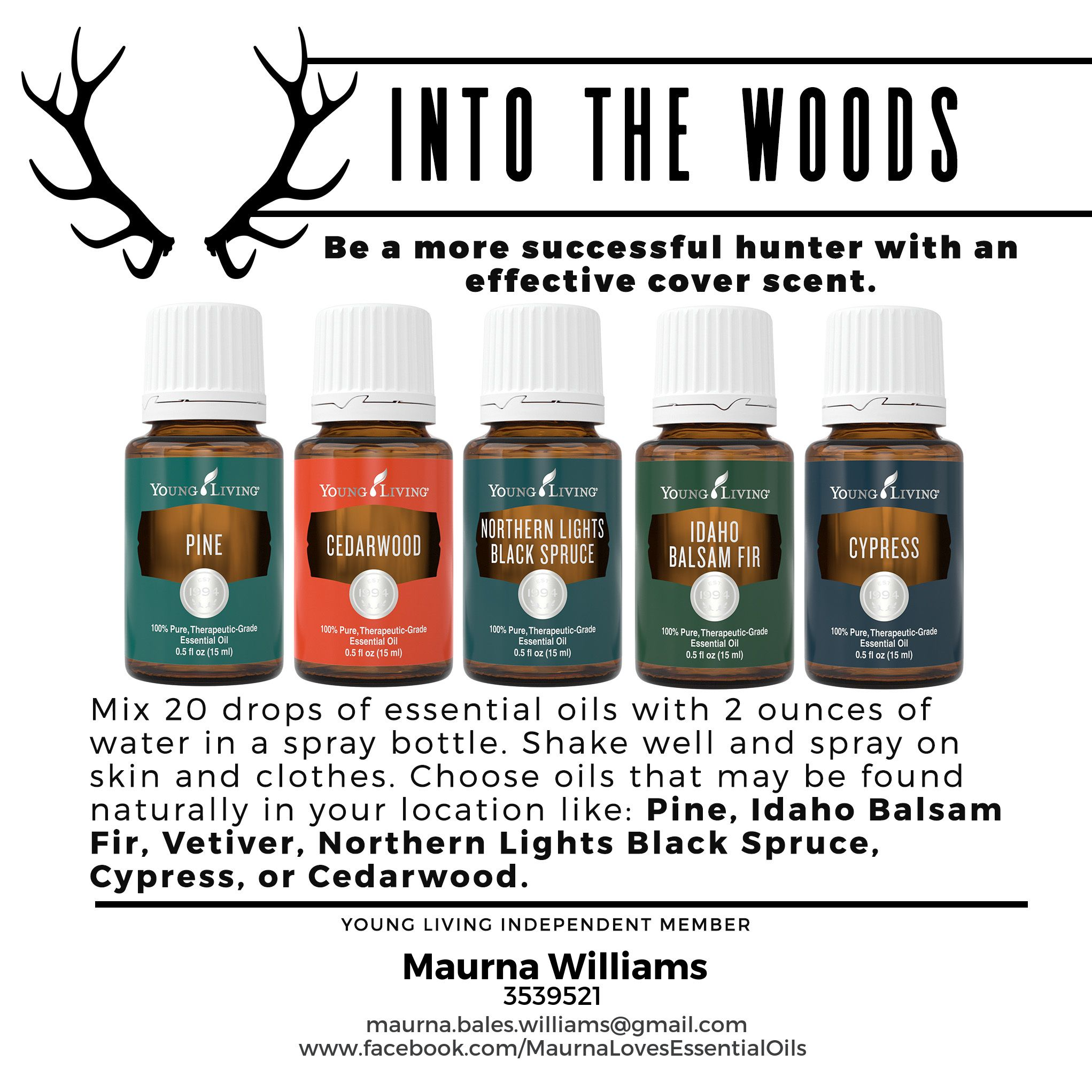 Hunting Cover Scent. Young Living Essential Oils For Men   Maurna Williams    Independent Distributor