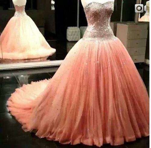 peach wedding dress my wedding ideas