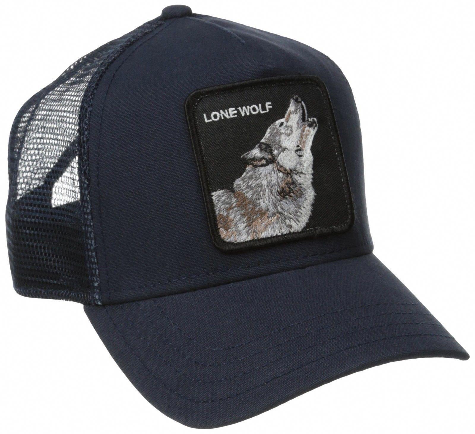 f0cea535a38 Goorin Bros. Animal Farm Trucker Snapback Hat Cap Navy