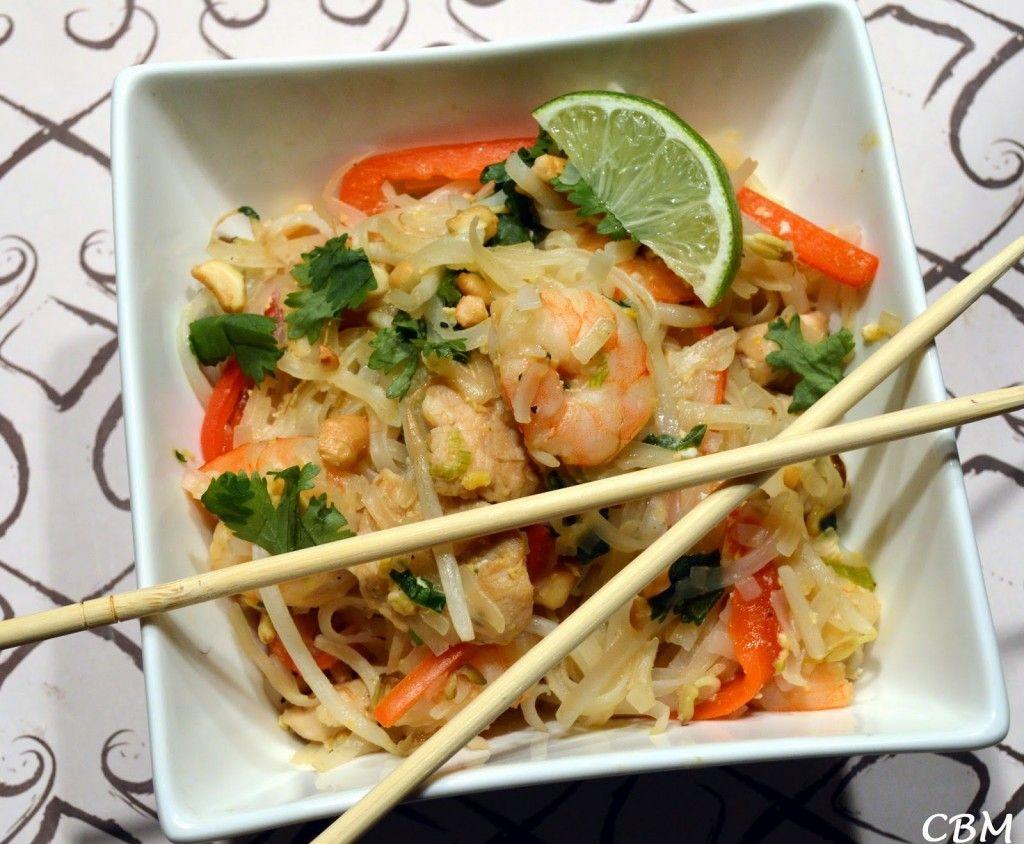 pad thai poulet crevettes