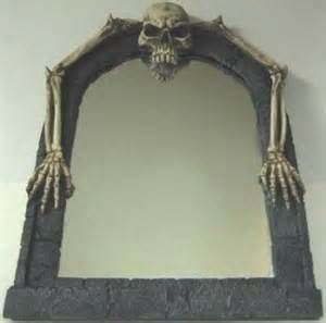gothic mirror with skulls and candles added - Yahoo Image Search Results
