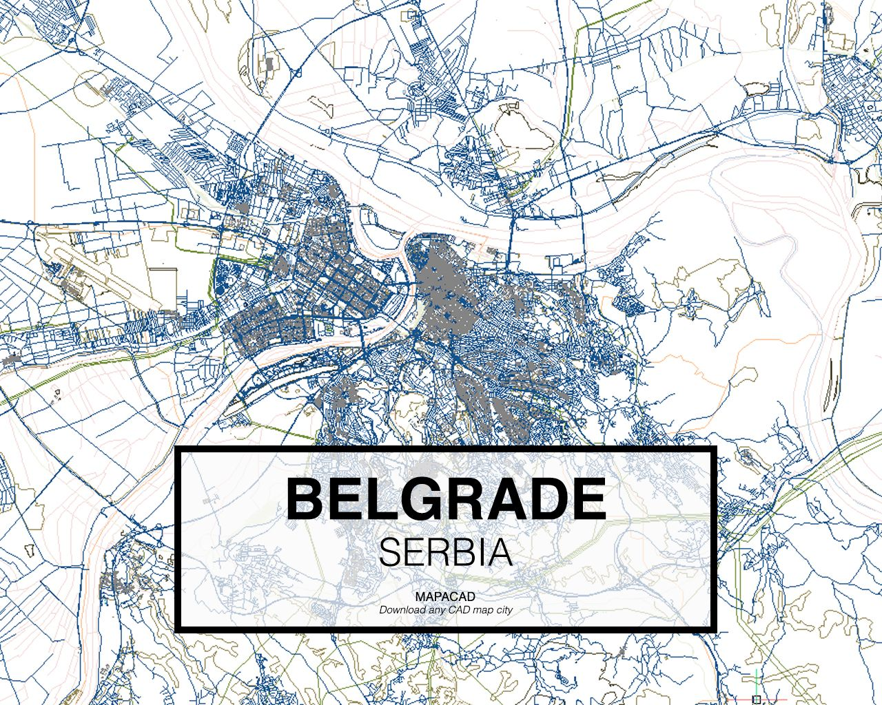 Belgrado serbia download cad map city in dwg ready to use in download cad map city in dwg ready to use in autocad gumiabroncs Choice Image