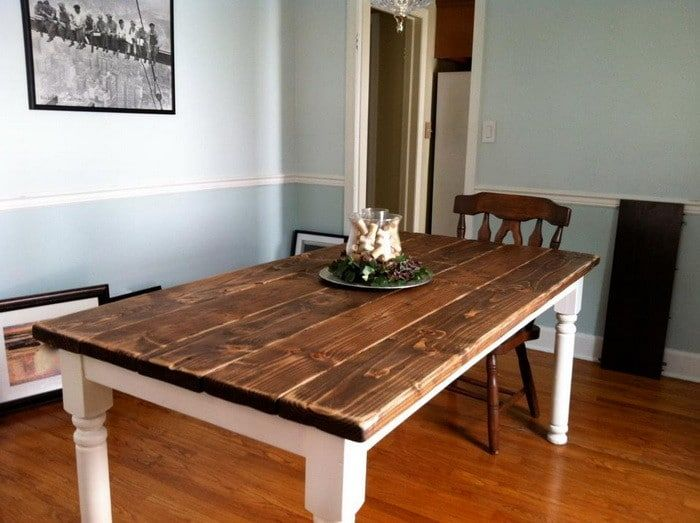 Building a Vintage Dining Room Table yourself is not as hard as