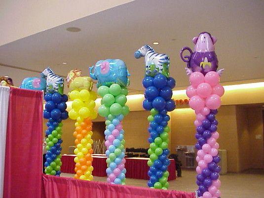 Balloon columns party ideas pinterest