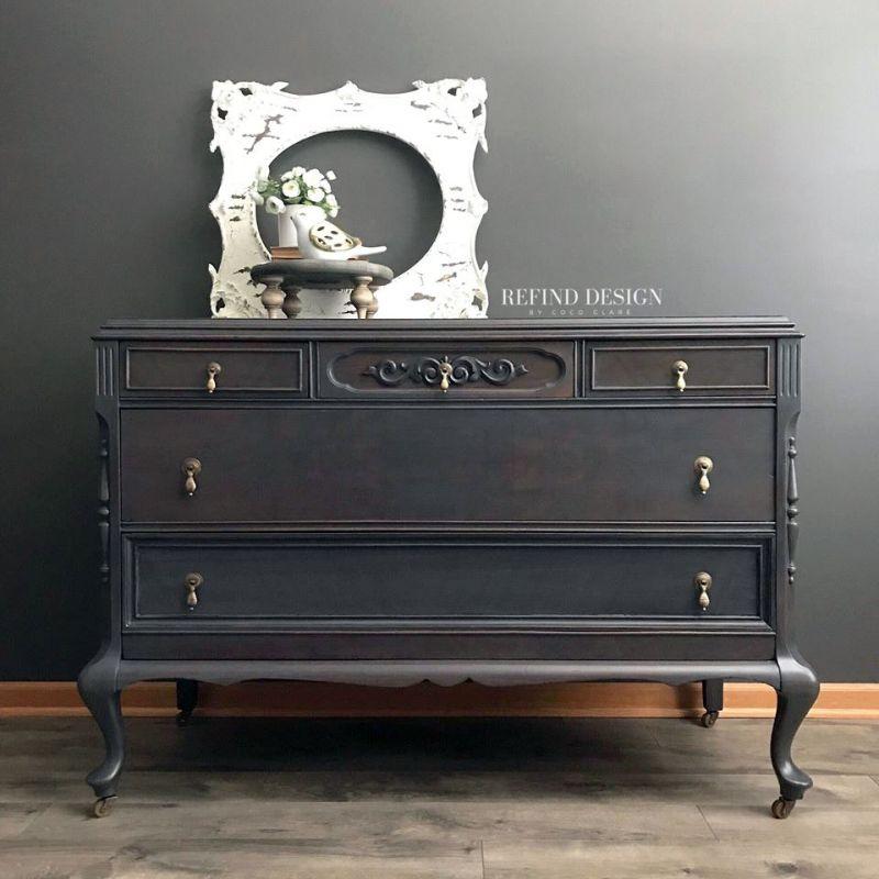 Dark Brown Dye Stain And Queenstown, Dark Brown Chalk Paint Furniture